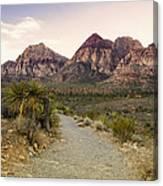 Red Rock Canyon Trailhead Canvas Print
