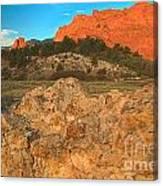 Red Rock Caps Canvas Print