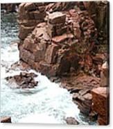Red Rock Coast Maine Canvas Print