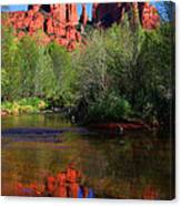 Red Rock Crossing Reflections Canvas Print