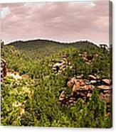 Red Rock Green Forest No2 Canvas Print
