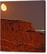 Red Rock Moon Canvas Print
