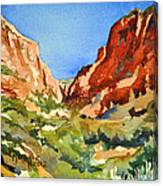 Red Rock Summer Canvas Print