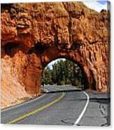 Red Rock Tunnel Canvas Print