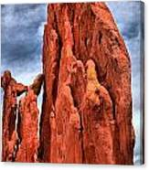 Red Rocks Against Blue Skies Canvas Print