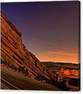 Red Rocks Amphitheatre At Night Canvas Print