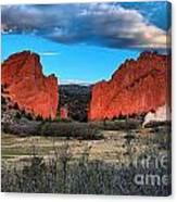 Red Rocks At Sunrise Canvas Print