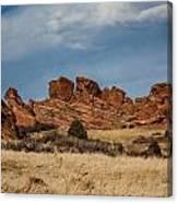 Red Rocks Geometrics Canvas Print