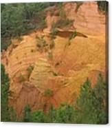 Red Rocks Of Roussillon Canvas Print