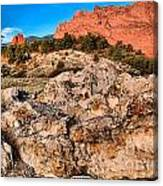Red Rocks Over White Canvas Print