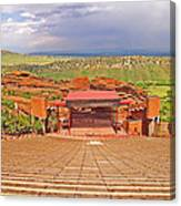 Red Rocks Park Amphitheater - Centered View Canvas Print