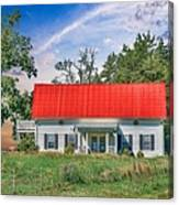 Red Roof Charm Canvas Print