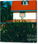 Red Roof Home Canvas Print