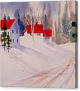 Red Roofs Canvas Print