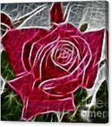 Red Rose Expressive Brushstrokes Canvas Print