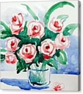 Red Rose For Her Canvas Print