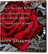 Red Rose Valentine Canvas Print