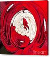 Red Rose Wrap Canvas Print
