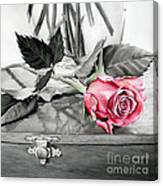 Red Rosebud Canvas Print