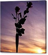 Red Roses At Sunset Canvas Print