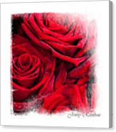 Red Roses. Elegant Knickknacks Canvas Print