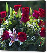 Red Roses Say I Love You Canvas Print