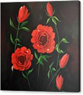 Red Roses Weeping Canvas Print