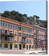 Red Row Houses In Nice Canvas Print
