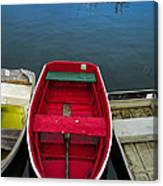 Red Rowboat Canvas Print