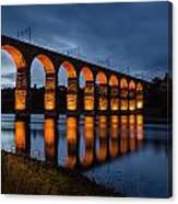 Red Royal Border Bridge Canvas Print
