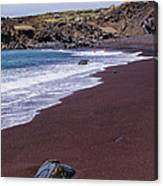 Red Sand Beach Canvas Print