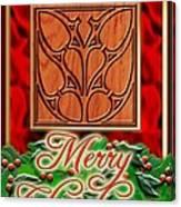 Red Satin Christmas Canvas Print