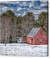 Red Shed In Maine Canvas Print