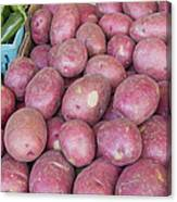 Red Skin Potatoes Stall Display Canvas Print