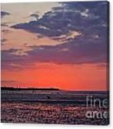 Red Sky At Sword Beach Canvas Print