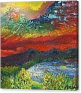 Red Sky In The Morning Canvas Print