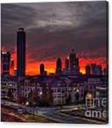 Red Sky Sunrise Midtown Atlanta Canvas Print