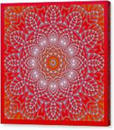 Red Space Flower Canvas Print