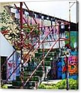 Red Stair Rails Canvas Print