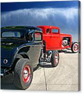 Red Steelies Canvas Print