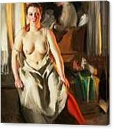 Red Stockings Canvas Print