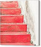 Red Stone Steps Canvas Print