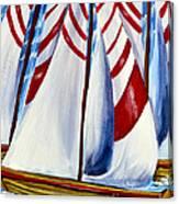 Red Stripe Sails Canvas Print