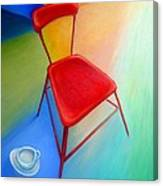 Red Studio Chair Canvas Print