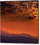 Red Sumer Sunset Canvas Print