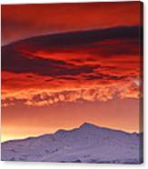 Red Sunrise Over National Park Sierra Nevada Canvas Print
