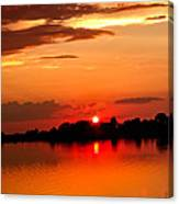 Red Sunset Beauty Canvas Print