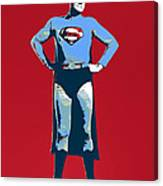 Red Superman Canvas Print