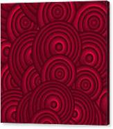 Red Swirls Canvas Print