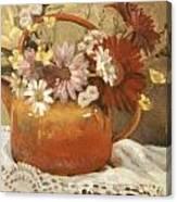 Red Teapot Canvas Print